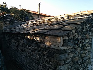 Traditional roof tiles at Ikaria, Greece