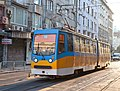 Tram in Sofia near Palace of Justice 2012 PD 025.jpg