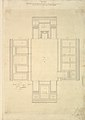 Treasury House, 10 Downing Street, London- Plan of the First-floor Parlor (Northeast Corner Room) MET DP829098.jpg