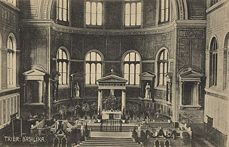 Aula Palatina - A postcard of the interior, circa 1900