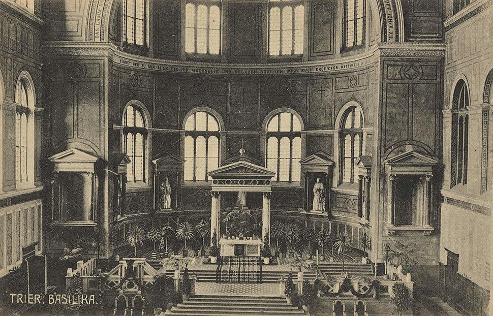Trier, Rheinland-Pfalz - Basilika, Altarraum (Zeno Ansichtskarten)