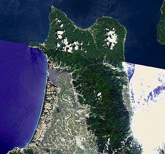 Tsugaru Peninsula - Landsat image of Tsugaru Peninsula