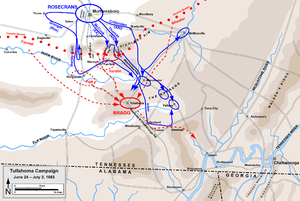 Battle of Hoover's Gap - Image: Tullahoma Campaign