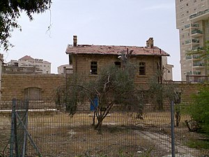 Railway to Beersheba - Turkish railway station in Beersheba before undergoing restoration in 2013.