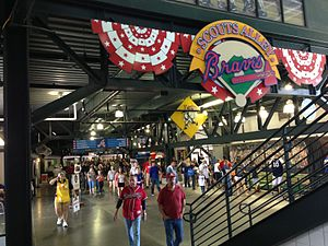 Turner Field - Scouts Alley was located beneath the stadium's left field seating area.