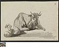 Twee schapen en een rund, circa 1723 - circa 1783, Groeningemuseum, 0041329000.jpg