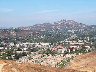 Poway, California - The Twin Peaks above Poway in August 2004.