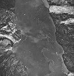 Tyeen Glacier and Hoonah Glacier, tidewater glacier terminus and glacial flour in the water, September 17, 1966 (GLACIERS 5936).jpg