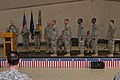 U.S. Army Command Sgt. Maj. Doug Gilliam with the Multinational Battle Group East, formally recognizes the five instructors from the 7th Army Noncommissioned Officer Academy in Grafenwoehr, Germany, who came to 130323-A-SC231-007.jpg