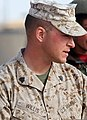 U.S. Marine Corps Sgt. Shane Willis, Police Advisor Team chief instructor, 2nd Battalion, 6th Marine Regiment, observes as Afghan Local Police recruits conduct patrolling exercises in Helmand province 120209-M-MA864-861.jpg