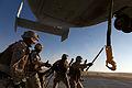 U.S. Marines with Combat Logistics Regiment 2, 2nd Marine Logistics Group, undergo helicopter support team training during Enhanced Mojave Viper (EMV), on Marine Corps Air Ground Combat Center Twentynine Palms 120912-M-KS710-106.jpg