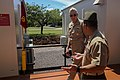 U.S. Navy Adm. Samuel J. Locklear, rear, the commander of U.S. Pacific Command, walks with U.S. Marine Corps Lt. Col. Matthew Puglisi, the officer in charge of Marine Rotational Force-Darwin, while visiting 140416-M-SE196-004.jpg
