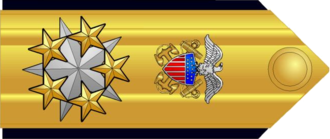 Admiral of the Navy (United States) - Proposed shoulder board insignia for a possible six-star admiral grade.