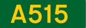 A515 road shield