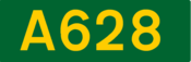 A628 road shield