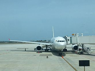 Mattala Rajapaksa International Airport - During its hub operations at Mattala, SriLankan Airlines flew Airbus A330 (shown here) and Airbus A340 widebody aircraft to the airport.