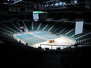 UNT Coliseum - UNT Coliseum, Interior 2016