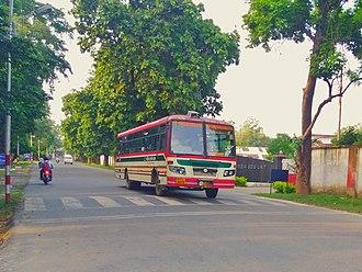 Uttar Pradesh State Road Transport Corporation - UPSRTC Bus in Bareilly Cantt