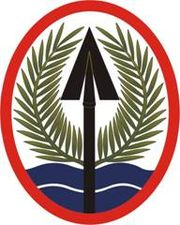 Iraqi Freedom and Multi-National Corp,Iraq Patch with lion 180px-USAEMultiNatlCorpsIraqSSI
