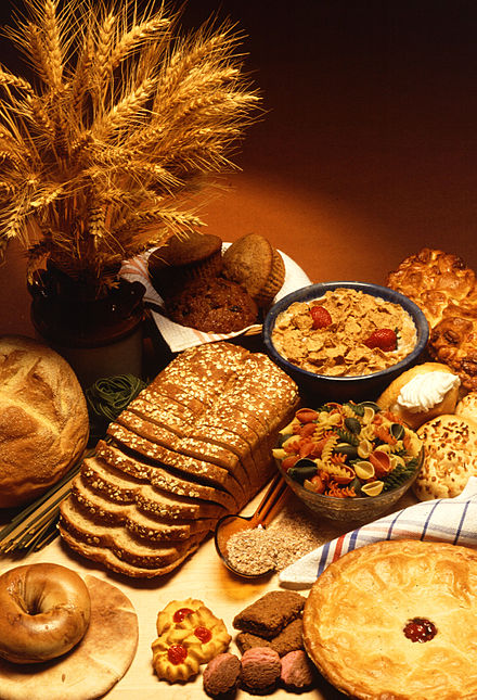 Wheat is used in a wide variety of foods. USDA wheat.jpg