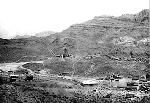 Black Mountains (Arizona) - Image: USGS Oatman 1921 rfl 01262