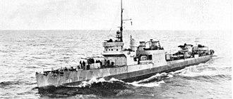 Convoy SC 107 - Image: USS Schneck DD159