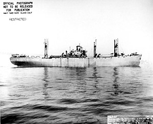 USS Alkes (AK-110) (broadside view) off San Francisco, 2 November 1943.