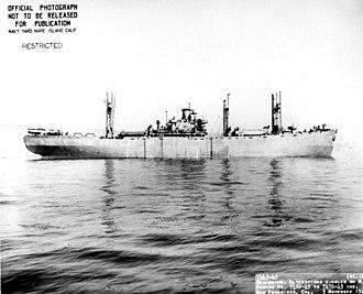USS Alkes (AK-110) - USS Alkes (AK-110) (broadside view) off San Francisco, 2 November 1943.