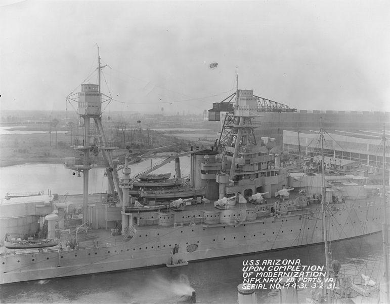 File:USS Arizona after 1931 modernization NARA 19-LC-19B-4.jpg