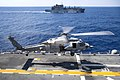 USS Bonhomme Richard conducts a replenishment-at-sea. (28739746213).jpg