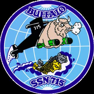 USS Buffalo (SSN-715) - Image: USS Buffalo SSN 715 Crest