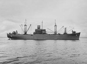 USS Capricornus (AKA-57) - USS Capricornus (AKA-57) circa in 1945