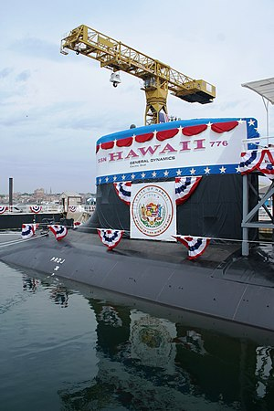 USS Hawaii (SSN-776) - USS Hawaii (SSN-776) at christening.