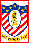 USS Ranger (CVA-61) insignia, 1967 (NH 65402-KN).png