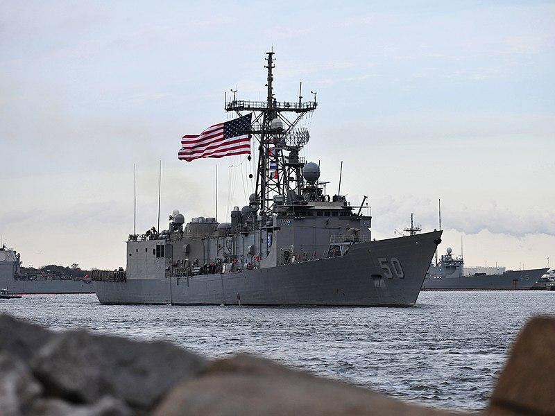 File:USS Taylor (FFG-50) leaving Mayport in January 2014.JPG