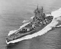 USS Washington in Puget Sound, 10 September 1945