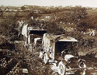 Horatio B. Hackett - U.S. Army ambulance train near Very, France in 1918