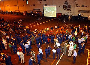 Super Bowl XXXVI - Image: US Navy 020204 N 6442M 022 Superbowl