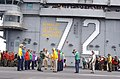 US Navy 030501-N-6020P-031 President George W. Bush greets Sailors aboard USS Abraham Lincoln (CVN 72).jpg