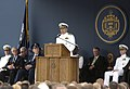 US Navy 040528-N-9693M-012 Chief of Naval Operations, Vern Clark delivers remarks as part the administration of Oath of Office for graduates entering service as a Navy Ensign during the U.S. Naval Academy class of 2004 graduati.jpg