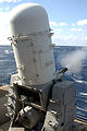 US Navy 050403-N-6278B-001 A Close-In Weapon System (CIWS) fires during a Pre-Aim Calibration (PAC) fire aboard the Nimitz-class aircraft carrier USS Theodore Roosevelt (CVN 71).jpg