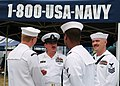 US Navy 050813-N-0962S-090 Master Chief Petty Officer of the Navy (MCPON) Terry Scott speaks with Sailors from Naval Recruiting District Buffalo and the guided missile destroyer USS McFaul (DDG 74) prior to the NASCAR Busch Ser.jpg