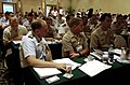 US Navy 061024-N-8273J-003 Military personnel from the U.S. Navy, Air Force and Coast Guard, along with civil air authorities from Hong Kong's Special Administrative Region (SAR) receive information concerning the Hong Ko.jpg
