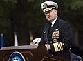 US Navy 071011-N-6932B-092 Chief of Naval Operations (CNO) Adm. Gary Roughead speaks at his assumption of office ceremony at the Washington Navy Yard.jpg