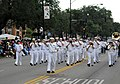 US Navy 080809-N-9056L-053 Sailors from Navy Band Great Lakes march in the 79th annual Bud Billiken parade, kicking off the 2008 Chicago Navy Week events.jpg