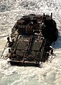 US Navy 091017-N-5148B-028 An amphibious assault vehicle assigned to the 11th Marine Expeditionary Unit (11th MEU) debarks the well deck of the dock landing ship USS Rushmore (LSD 47).jpg