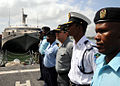 US Navy 100115-N-1429M-027 he Africa Partnership Station (APS) East international staff stand in formation during an APS East press conference aboard the guided-missile frigate USS Nicholas (FFG 47).jpg