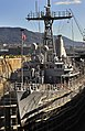 US Navy 100126-N-0807W-004 The mine countermeasures ship USS Guardian (MCM 5) moors in dry-dock at SSK Shipyard in Sasebo, Japan.jpg