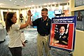 US Navy 100719-N-9818V-572 Hospital Corpsman 1st Class Ingrid Cortez, U.S. Fleet Forces Sea Sailor of the Year, gets at high five from Master Chief Petty Officer of the Navy (MCPON) Rick West.jpg