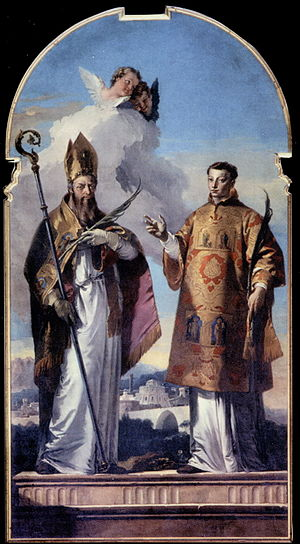 Udine Cathedral - Sts. Hermagoras and Fortunatus by Giovanni Battista Tiepolo (1736).